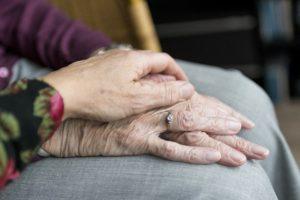 Image: Seniors Holding Hands
